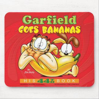 Garfield vai bananas Mousepad