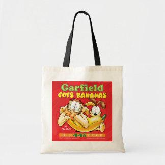 Garfield vai sacola das bananas bolsas para compras