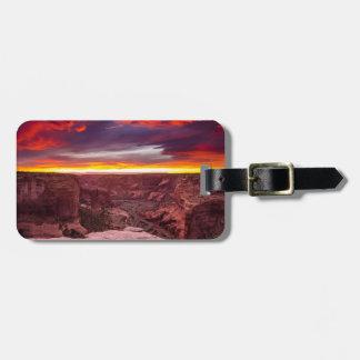 Garganta de Chelly, por do sol, arizona Etiqueta De Bagagem