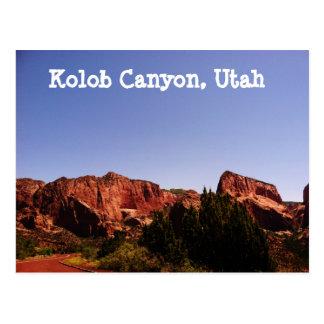 Garganta de Kolob, cartão de Utá - paisagem bonita