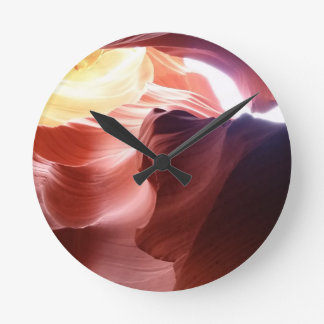 Garganta do antílope relógio redondo