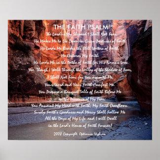 Garganta do rio do salmo da fé de WarriorsCreed Posteres