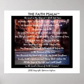 Garganta do rio do salmo da fé de WarriorsCreed Posters