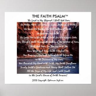 Garganta do rio do salmo da fé de WarriorsCreed Poster