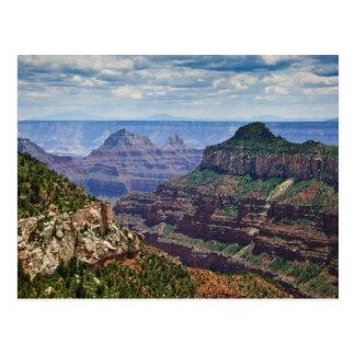 Garganta norte de Gran da borda - nacional do Cartão Postal