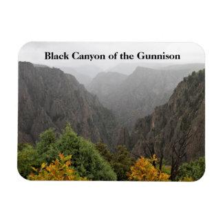 Garganta preta do parque Colorado de Gunnison Ímã