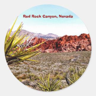Garganta vermelha da rocha, etiquetas de Nevada