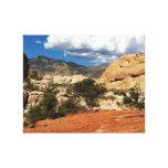 Gargantas do deserto da natureza impressão de canvas esticada