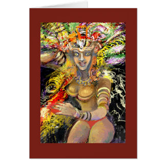 ** Garota faz Carnaval ** Cartão Comemorativo