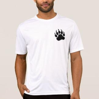Garra de urso alegre lindo em B & em W - camisa da