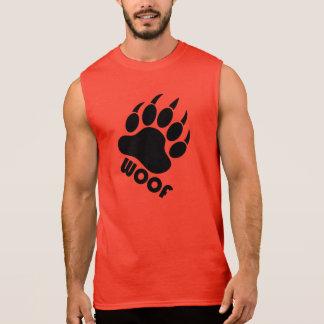 Garra do orgulho do urso do Woof (preto) Regata