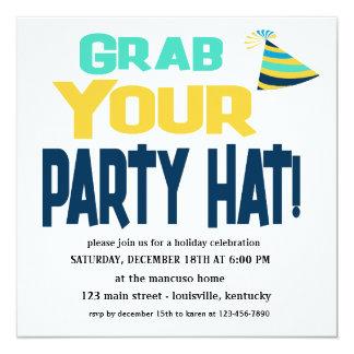 Garra editável seu convite do chapéu do partido