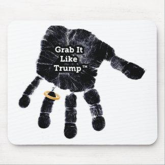 Garra gosta do trunfo Handprint com anel Mousepad