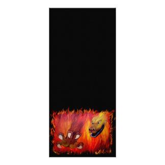 Garra vermelha do dragão 10.16 x 22.86cm panfleto