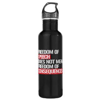 Garrafa A liberdade de expressão não significa a liberdade