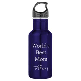 Garrafa A melhor mamã dos mundos azuis bonito