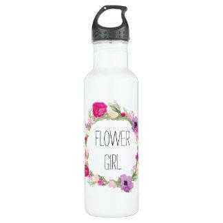 Garrafa Aguarela floral da grinalda do florista