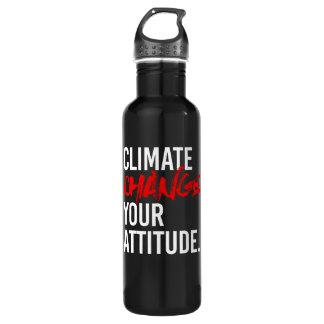 Garrafa ALTERAÇÕES CLIMÁTICAS SUA ATITUDE - - Pro-Ciência