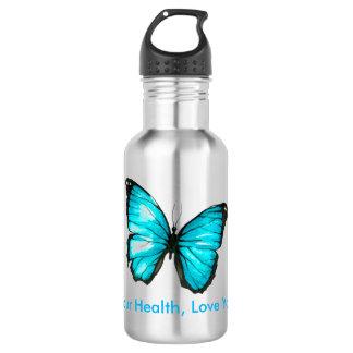 Garrafa Ame sua saúde, borboleta do amor você mesmo