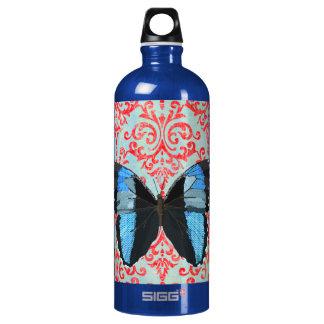 Garrafa azul da liberdade da borboleta de Boho