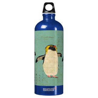 Garrafa azul da liberdade da lagoa dos pinguins