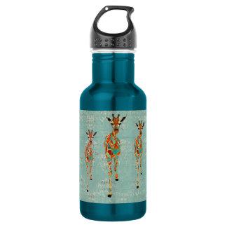 Garrafa Azure & ambarina da liberdade dos girafas