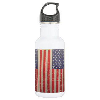 Garrafa Bandeira americana resistida, afligida dos EUA