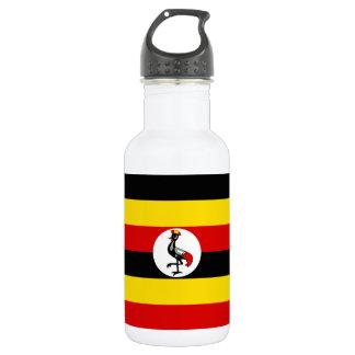 Garrafa Bandeira nacional do mundo de Uganda