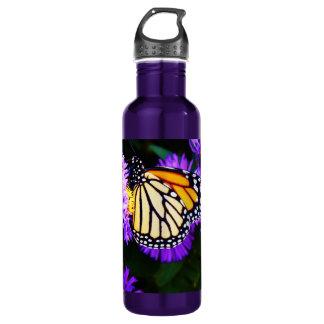 Garrafa Borboleta de monarca no áster roxo