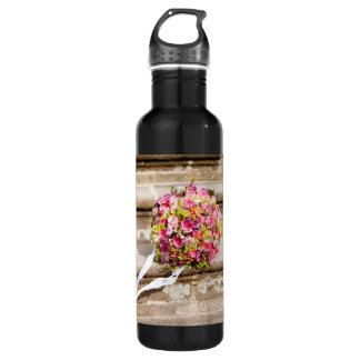 Garrafa Buquê floral do casamento do rosa e do verde
