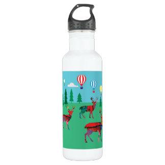 Garrafa Cervos & balões de ar quente