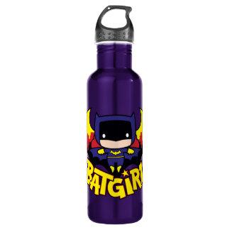 Garrafa Chibi Batgirl com skyline & logotipo de Gotham