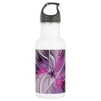 Garrafa Cinzas abstratas modernas do rosa da flor do