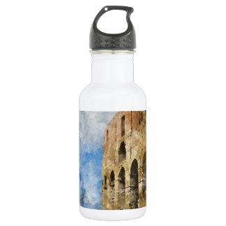 Garrafa Colosseum antigo em Roma Italia