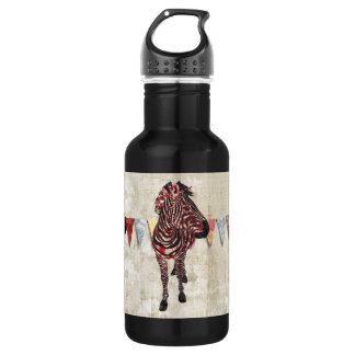 Garrafa cor-de-rosa da liberdade da zebra
