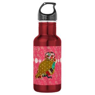 Garrafa cor-de-rosa da liberdade do rosa da coruja