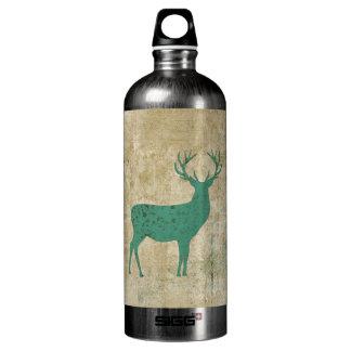 Garrafa da liberdade da silhueta dos cervos de