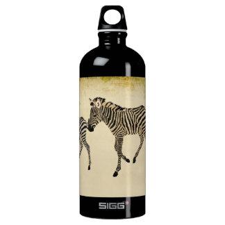 Garrafa da liberdade da zebra do vintage