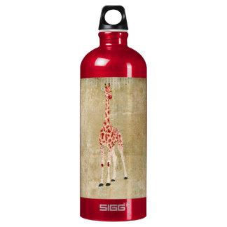 Garrafa da liberdade dos girafas da rosa vermelha