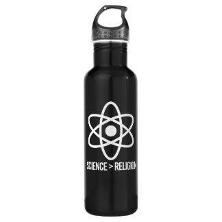 Garrafa D'água A ciência é maior do que a religião - símbolo da