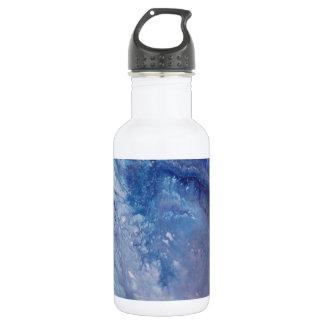 Garrafa D'água Água branca azul triste da onda da pintura do