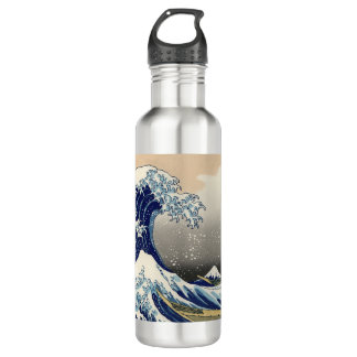 Garrafa D'água Arte japonesa - onda