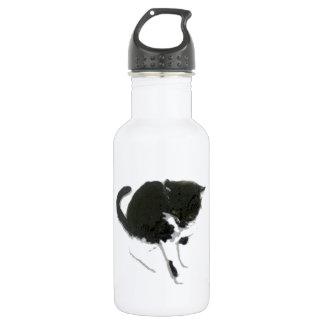 Garrafa D'água Arte preto e branco do gato