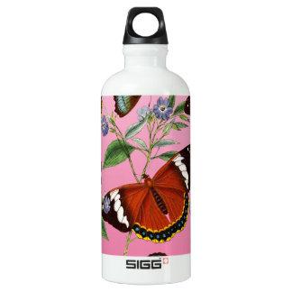 Garrafa D'água as borboletas misturam o rosa