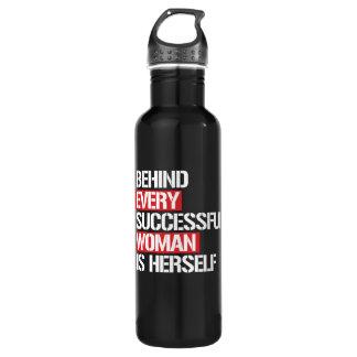 Garrafa D'água Atrás de cada mulher bem sucedida é ela mesma --