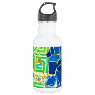 Garrafa D'água Azulejos verdes de Parc Guell na espanha de