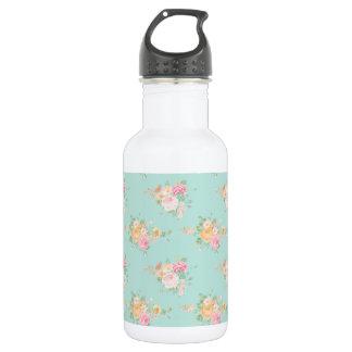 Garrafa D'água bonito, hortelã, chique, chique do país, floral,