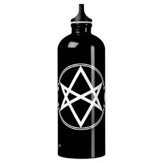 Garrafa D'água Branco Unicursal do Hexagram de Falln