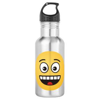 Garrafa D'água Cara de sorriso com boca aberta
