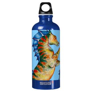 Garrafa D'água Cavalo marinho no azul